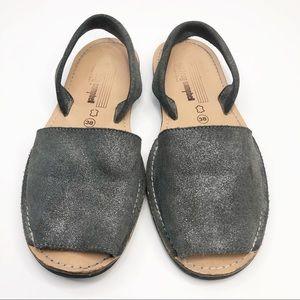 Jeffrey Campbell Metallic Peep Toe Sandals